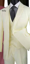 Load image into Gallery viewer, Vinci Classic Three Piece Suit in White or Ivory