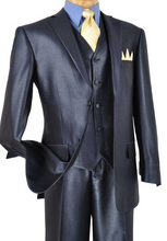 Load image into Gallery viewer, Vinci Three Piece Shine Suit (Available in Multiple Colors)