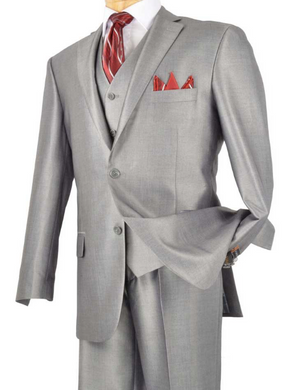 Vinci Three Piece Shine Suit (Available in Multiple Colors)