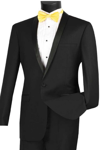 Vinci Slim Fit Shawl Collar Tux (Available in Multiple Colors)