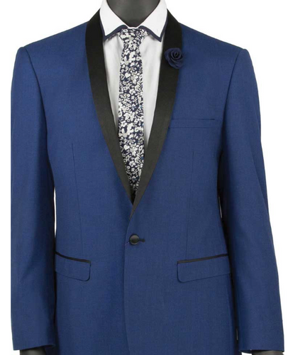 Vinci Slim Fit Shawl Collar Tux (Available in Red or Blue)