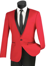 Load image into Gallery viewer, Vinci Slim Fit Shawl Collar Tux (Available in Red or Blue)