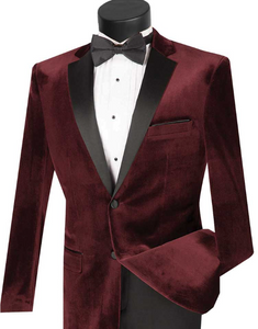 Slim Fit Velvet Tuxedo (Available in Multiple Colors)
