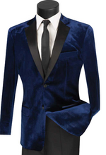 Load image into Gallery viewer, Slim Fit Velvet Tuxedo (Available in Multiple Colors)