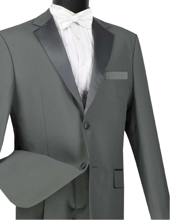 Big and Tall Vinci Tuxedo (Available in Gray or Ivory)