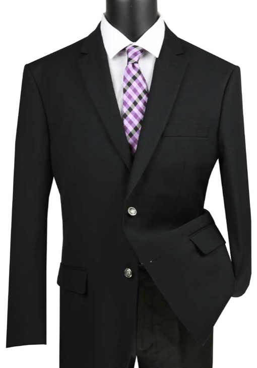 Regular Fit Sport Coat in Black