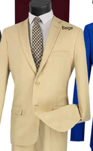 Load image into Gallery viewer, Solid Ultra Slim Suit in Royal and Beige
