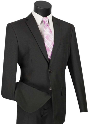 Slim Fit Vinci Suit (Available in Black or White or Royal Blue)