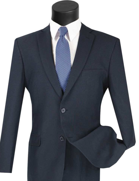 Slim Fit Vinci Suit (Available in Navy or Gray or Burgundy)
