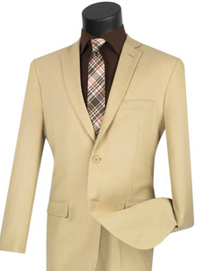 Slim Fit Vinci Suit (Available in Ivory or Medium Gray or Beige)