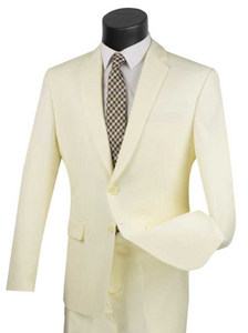 Single Breasted Suit in Ivory or Brown up to size 70
