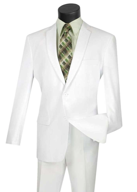 Single Breasted Suit in White or Black up to size 70