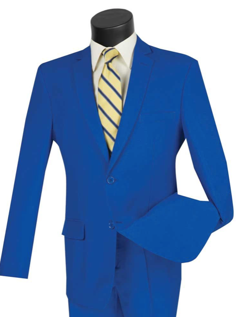 Single Breasted Suit in Royal Blue