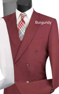 Double Breasted Suit (Available in Multiple Colors)