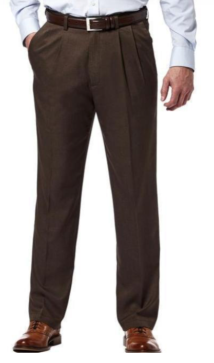 Pleated Dress Pants (Brown)