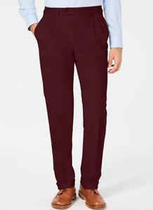 Pleated Dress Pants (Burgundy)