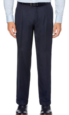 Pleated Dress Pants (Navy)