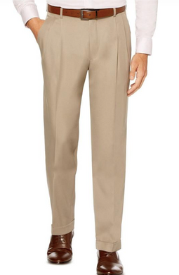 Pleated Dress Pants (Khaki)