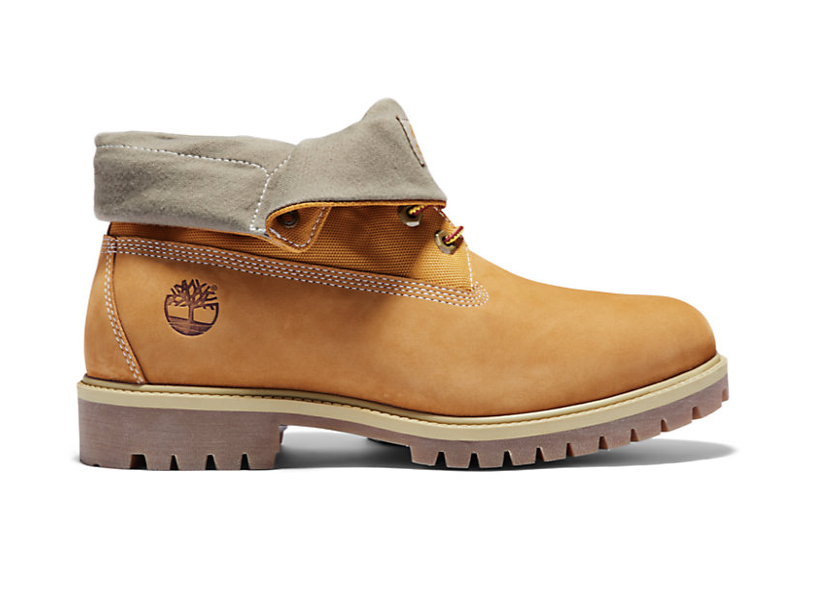 Roll Top Boots, Wheat Nubuck