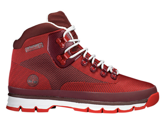 Red Jacquard Euro Hiker Boots (Only Available to ship within the USA)