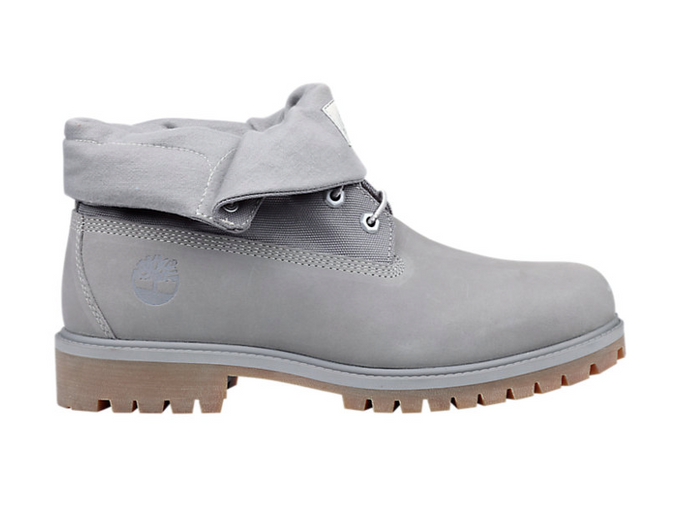 Roll Top Boots, Grey Nubuck (Only Available to ship within the USA)