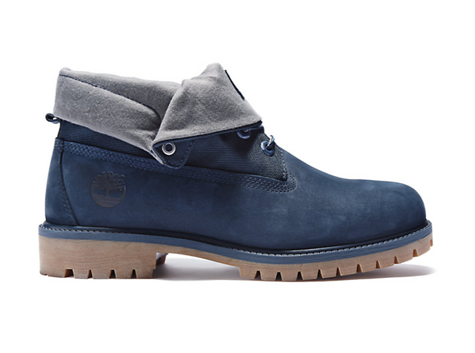 Roll Top Boots, Navy Nubuck (Only Available to ship within the USA)