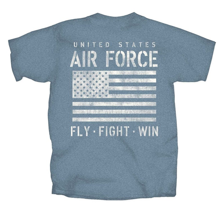 Air Force, Fly, Fight, Win in Blue