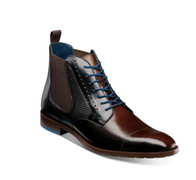 Load image into Gallery viewer, Rupert Boot in Brown with Blue