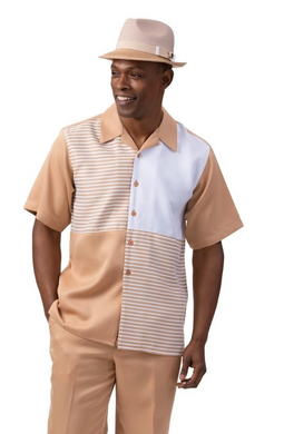 Tan Four Square Leisure Suit