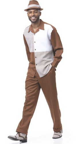 Brown Four Square Leisure Suit