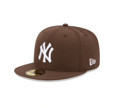 Brown New York Yankees Fitted Hat
