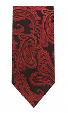 Load image into Gallery viewer, Microfiber Paisley Tie (Red Variations)