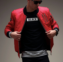 Load image into Gallery viewer, Basic Bomber Jacket (Available in Red or Black)