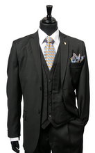 Load image into Gallery viewer, Burtt L Vested Suit (White, Black, and Gray)