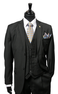 Burtt L Vested Suit (White, Black, and Gray)
