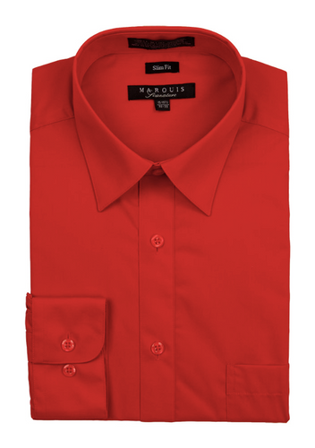 Slim Fit Dress Shirts (Red and Pink Variations)