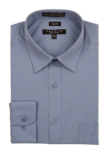 Slim Fit Dress Shirts (Blue Variants)