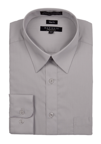 Slim Fit Dress Shirts (Black, Silver, and White Variants)
