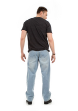 Load image into Gallery viewer, Relaxed Fit Jeans (Light Blue)