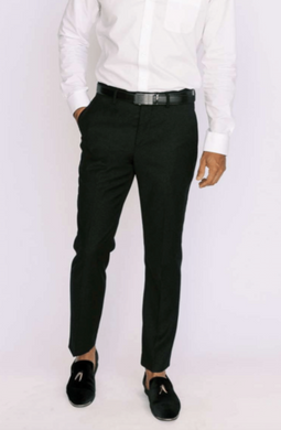 Black Slim Fit Dress Pants