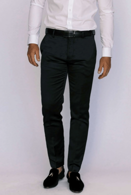 Black Satin Ultra Slim Dress Pants
