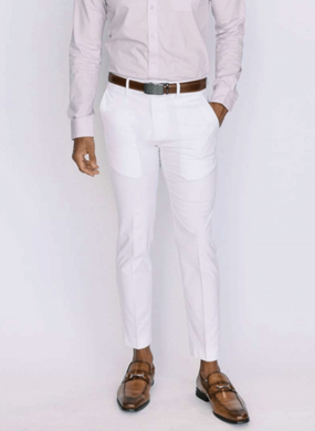 White Ultra Slim Dress Pants