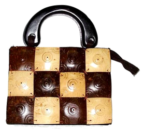 Coconut Shell Bag with Handle