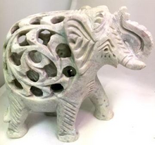 Load image into Gallery viewer, Handcarved Soapstone Elephant