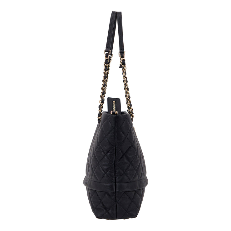Chanel Shopping Tote in Black Quilted Caviar