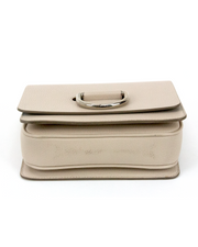Burberry D-Ring Crossbody Bag in Taupe Leather