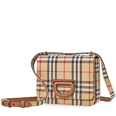 Burberry Vintage Check D-Ring Bag in Archive Beige