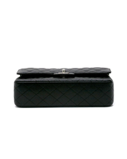 Chanel Black Quilted Caviar Double Flap Bag in Medium