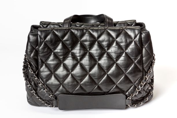 Chanel Double Sided Satchel Bag with Black Quilted Lambskin