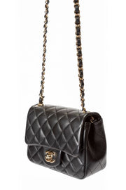 Chanel Mini Flap Bag with Black Quilted Calfskin